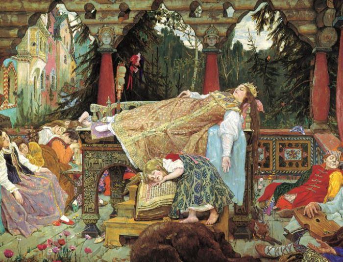 В. Васнецов. Спящая царевна, 1900-1926. Фрагмент | Фото: artchive.ru