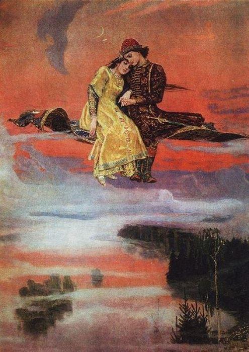 В. Васнецов. Ковер-самолет, 1919-1926   Фото: artchive.ru