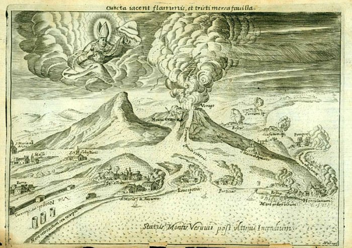 Гора Везувий после извержения. Гравюра, 1633 г. | Фото: liveinternet.ru