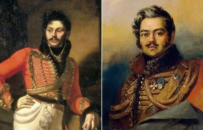 Денис Давыдов (?) на портретах работы О. Кипренского и Дж. Доу | Фото: gallerix.ru