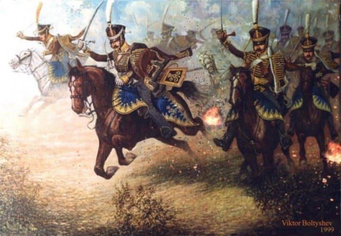 В. Болтышев. Давыдов в бою у Салтановки. 1812 | Фото: pravmir.ru