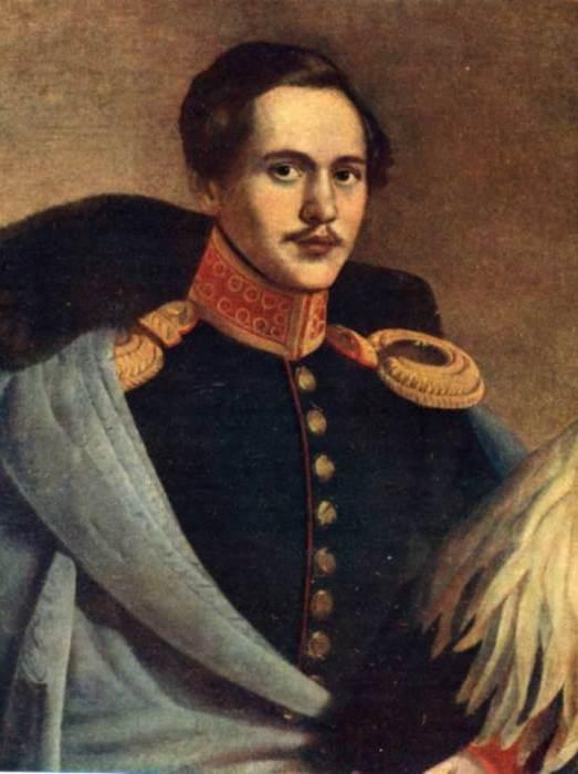 Ф. Будкин. Портрет М. Ю. Лермонтова в вицмундире лейб-гвардии Гусарского полка, 1834