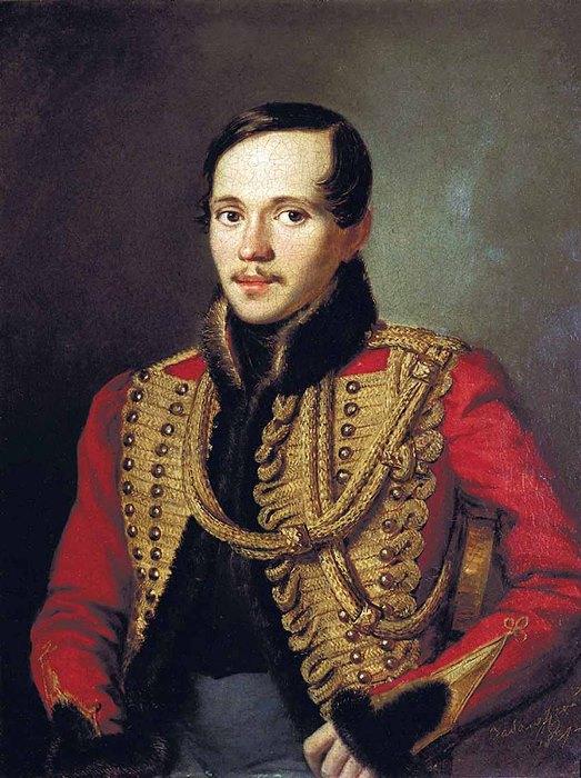 П. Заболотский. Портрет М. Ю. Лермонтова в ментике лейб-гвардии гусарского полка, 1837