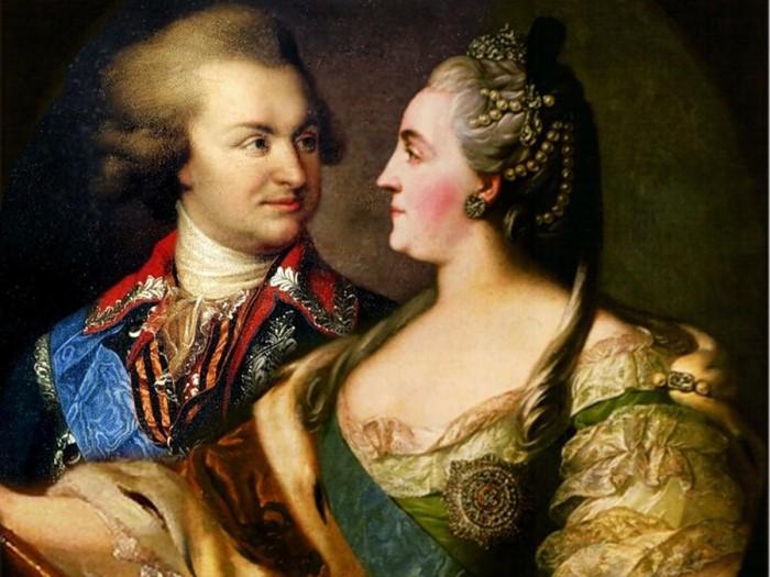 Князь Г. Потемкин и Екатерина II | Фото: nethistory.su
