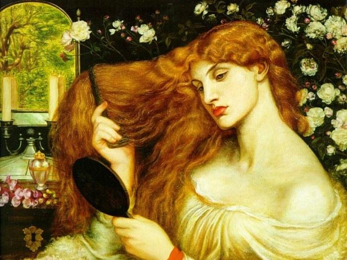Данте Габриэль Россетти. Леди Лилит, 1868. Фрагмент