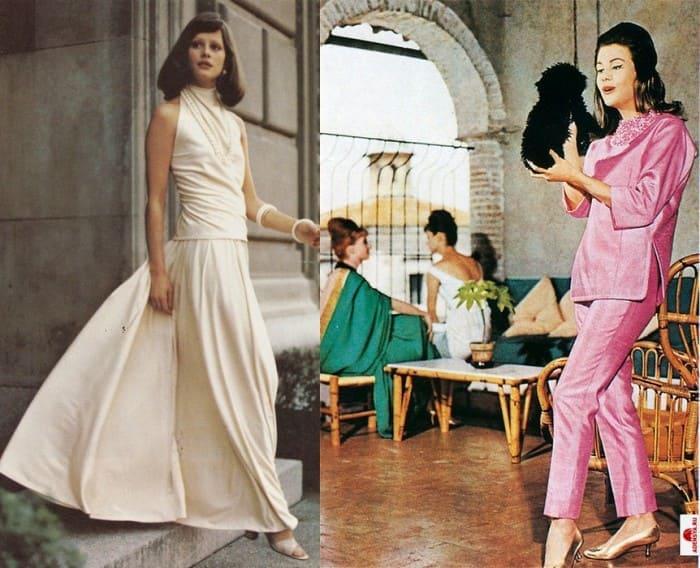 Наиболее известная модель от *Galitzine* – брючные костюмы, названные *пижама-палаццо* | Фото: april-knows.ru