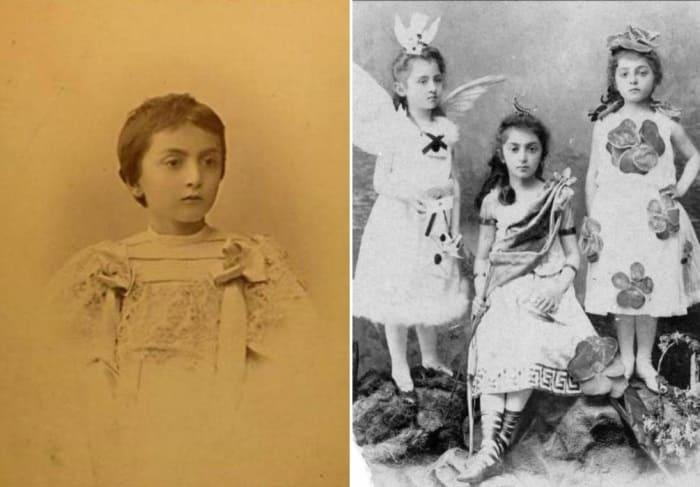Слева – княжна Мэри Шервашидзе. Справа – сестры Елена, Мэри и Тамара Шервашидзе | Фото: liveinternet.ru