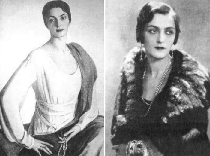 Слева – С. Сорин. Портрет Мэри Шервашидзе. Справа – княгиня Шервашидзе-Эристави, фото | Фото: liveinternet.ru