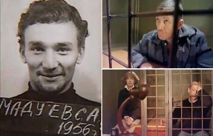 Преступник, который стал прототипом героя фильма *Тюремный романс*, 1993 | Фото: crimerussia.tv и kino-teatr.ru