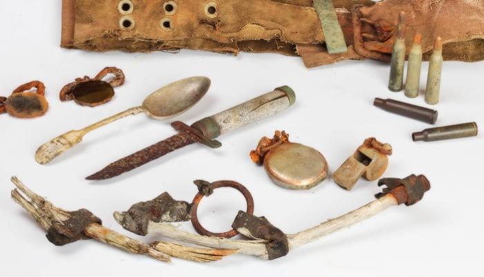 Найденные в 2010 г. следы пропавшей экспедиции Георгия Брусилова | Фото: stoneforest.ru