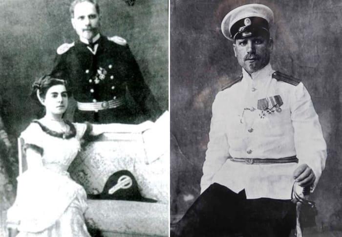 Старший лейтенант Георгий Седов с женой | Фото: barneo.ru и history-paradox.ru