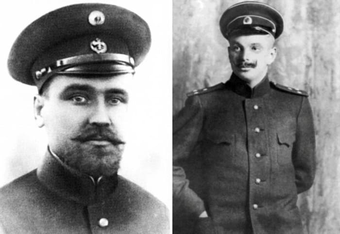 Штурман Валериан Альбанов и капитан Георгий Брусилов | Фото: portal-kultura.ru и lexicon.dobrohot.org