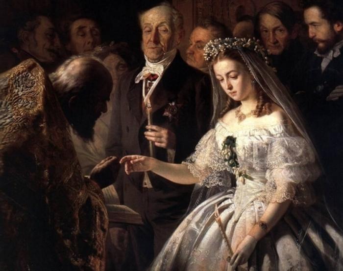 Василий Пукирев. Неравный брак, 1862. Фрагмент