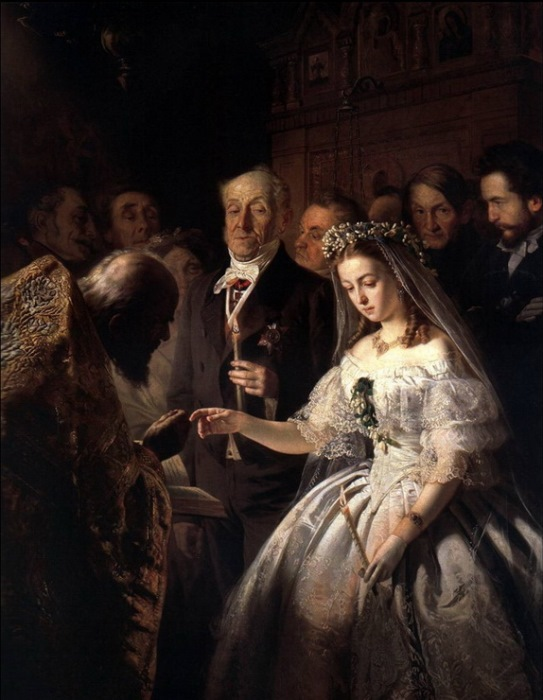 Василий Пукирев. Неравный брак, 1862