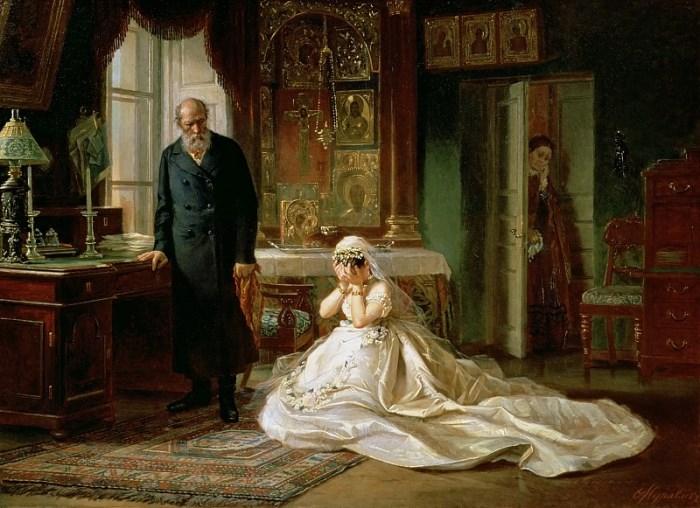 Фирс Журавлев. Перед венцом, 1874