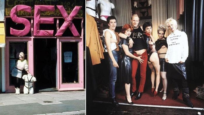 Вивьен Вествуд с друзьями в бутике «Sex», 1976 г.
