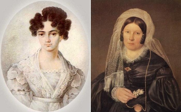 Мария Николаевна Волконская (Раевская) и Екатерина Андреевна Карамзина