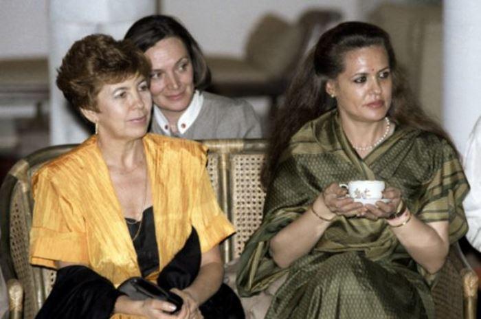 Раиса Горбачева на приеме в Дели во время официального визита в Индию, 1986 | Фото: ria.ru
