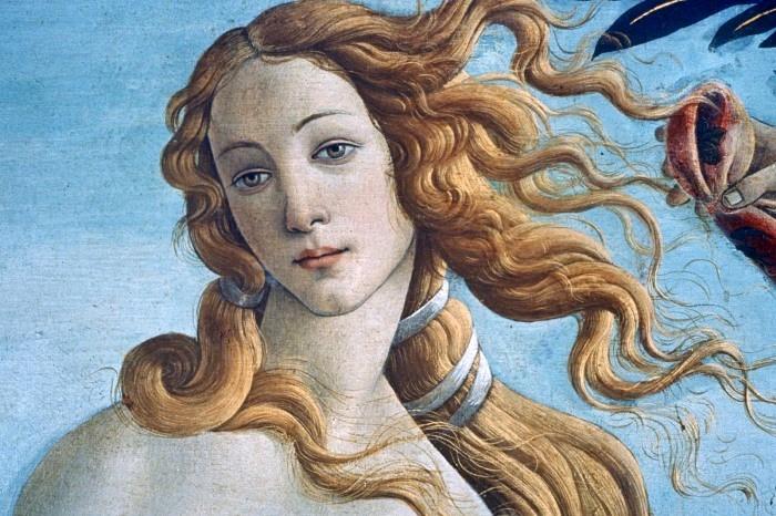 Сандро Боттичелли. Рождение Венеры. Фрагмент