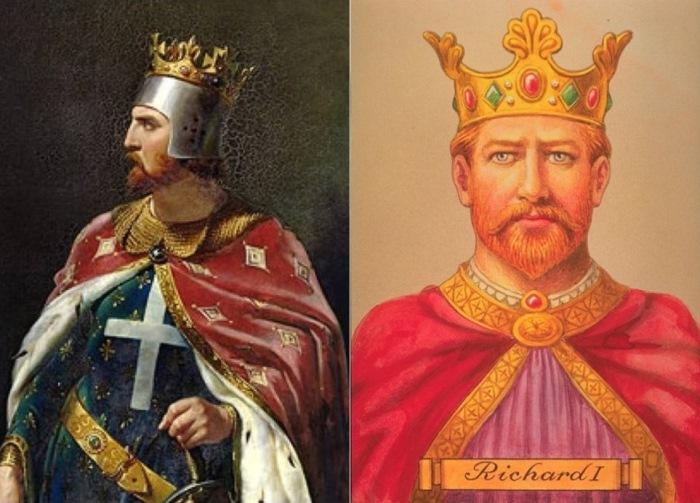 Рыжеволосый английский король Ричард Львиное Сердце