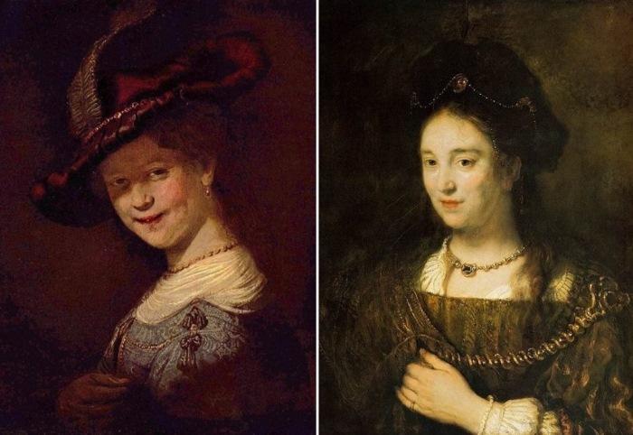Саския на картинах Рембрандта