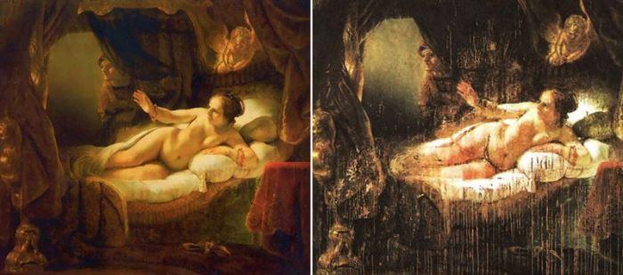 *Даная* до и после покушения
