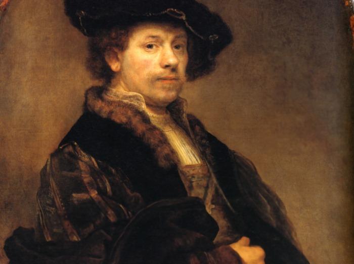 Рембрандт ван Рейн. Автопортрет, 1640. Фрагмент