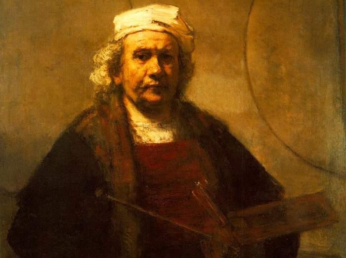 Рембрандт ван Рейн. Автопортрет, ок. 1660. Фрагмент
