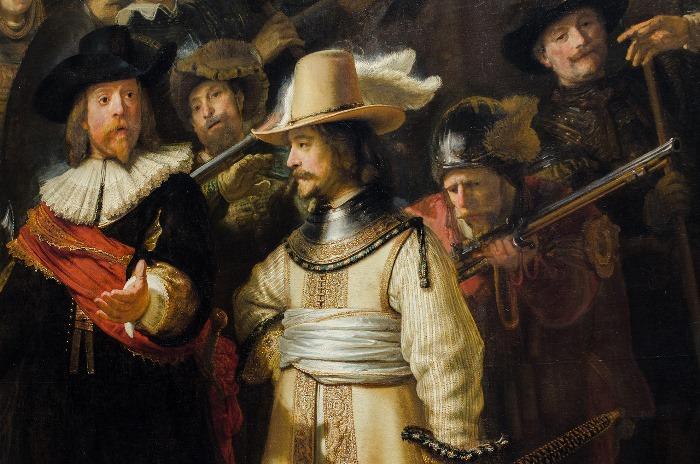 Рембрандт ван Рейн. Ночной дозор, 1642. Фрагмент