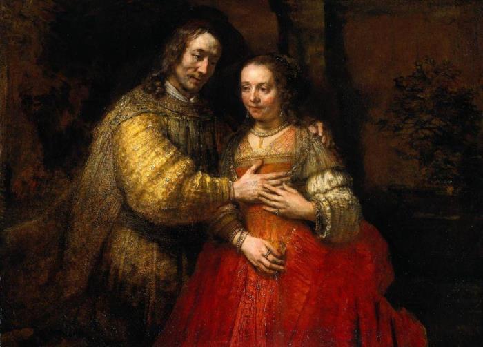 Рембрандт ван Рейн. Еврейская невеста, ок. 1665