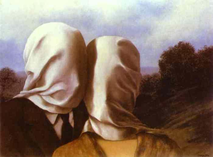 Рене Магритт. Влюбленные, 1928. Фото: Интернет