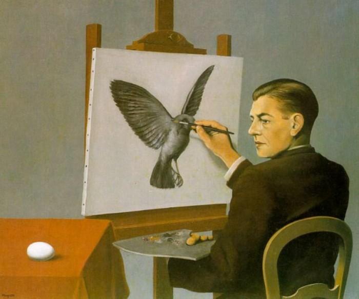 Рене Магритт. Проницательность (автопортрет), 1936. Фото: Интернет