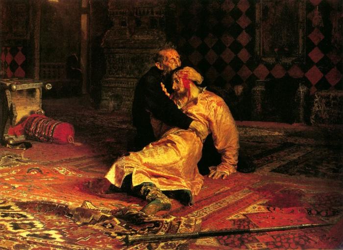 Илья Репин. Иван Грозный и сын его Иван 16 ноября 1581 года, 1885