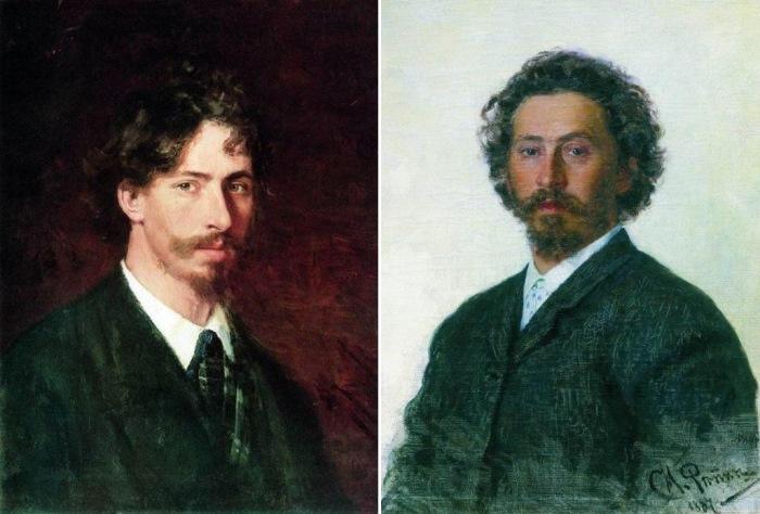 Илья Репин. Автопортреты 1878 и 1887 гг.