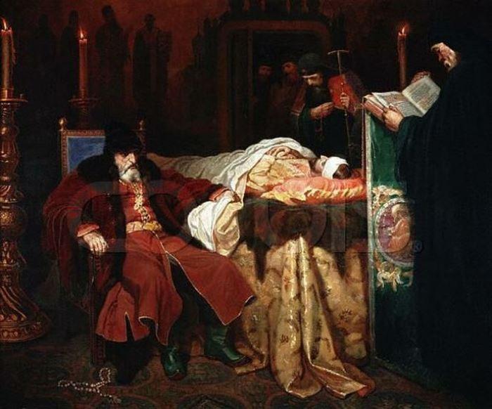 В. Шварц. Иван Грозный у тела убитого им сына, 1864