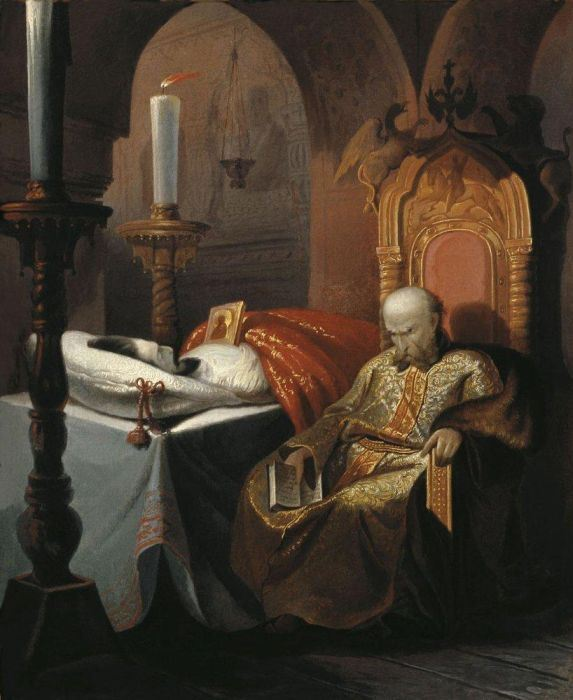 Н. Шустов. Иван Грозный у тела убитого им сына, 1860-е