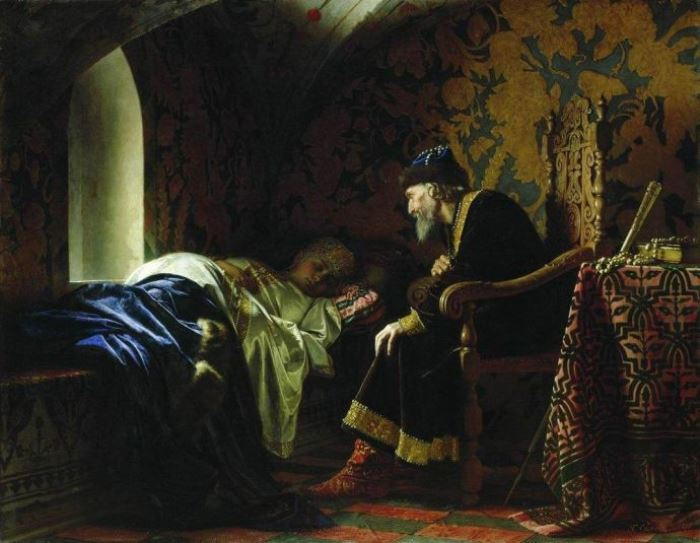 Г. Седов. Царь Иван Грозный любуется на Василису Мелентьеву, 1875