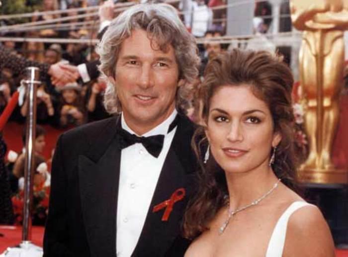 Актер с первой женой, Синди Кроуфорд   Фото: stuki-druki.com