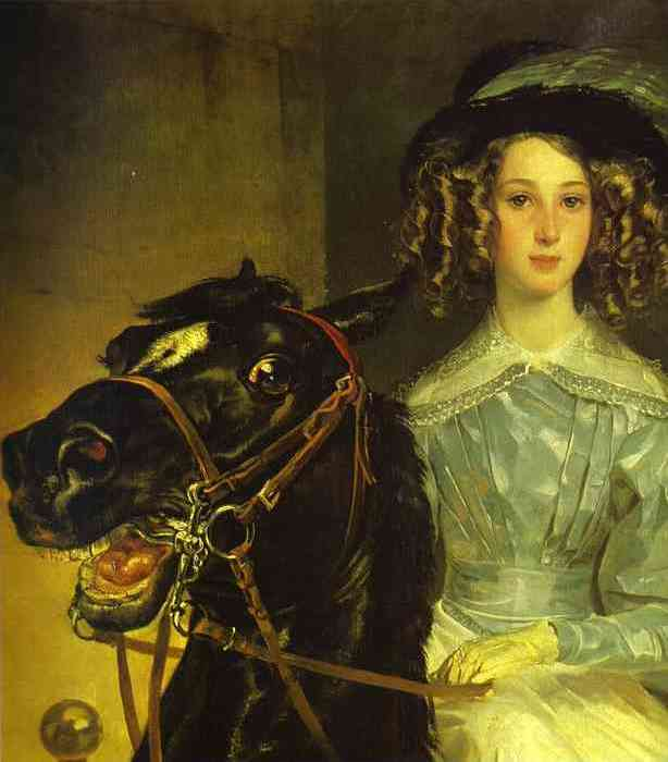 К. Брюллов. Всадница, 1832. Фрагмент | Фото: gallerix.ru