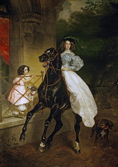 К. Брюллов. Всадница, 1832 | Фото: gallerix.ru