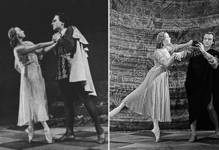 Кадры из фильма *Ромео и Джульетта*, 1954   Фото: tele.ru, kino-teatr.ru