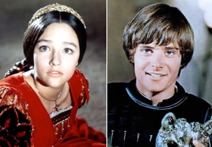 Леонард Уайтинг в роли Ромео и Оливия Хасси в роли Джульетты | Фото: kino-teatr.ru