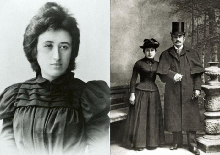 Роза Люксембург и Лео Йогихес, 1892 | Фото: persons-info.com и lisa.ru