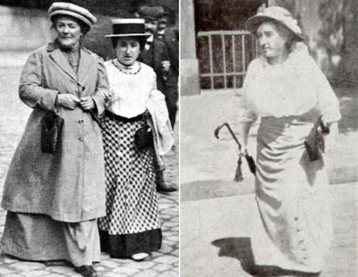 Слева – Клара Цеткин и Роза Люксембург, 1910. Справа – Роза Люксембург | Фото: womanontop.ru и persons-info.com