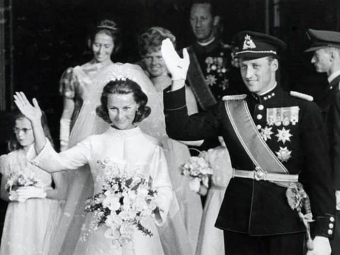 Свадьба Сони Харальдсен и принца Харальда | Фото: royalcourt.no