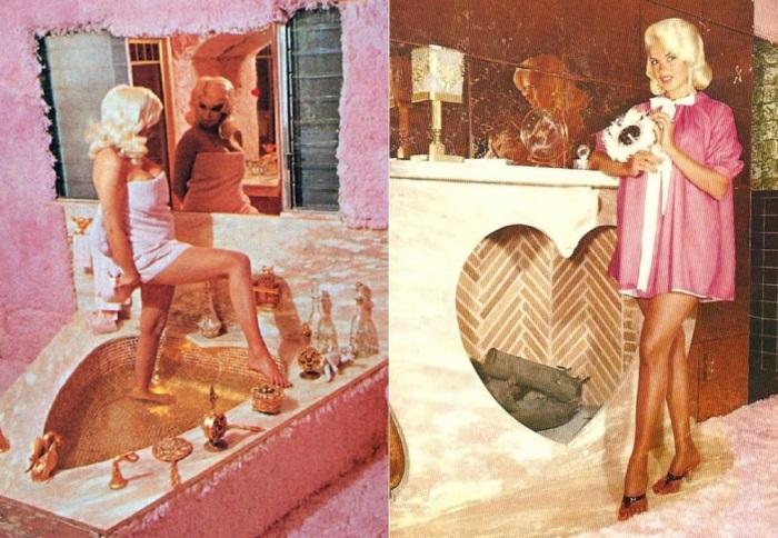 Кукольный дом Джейн Мэнсфилд стал прообразом домика Барби | Фото: losangeleshomes.eu и mtdata.ru