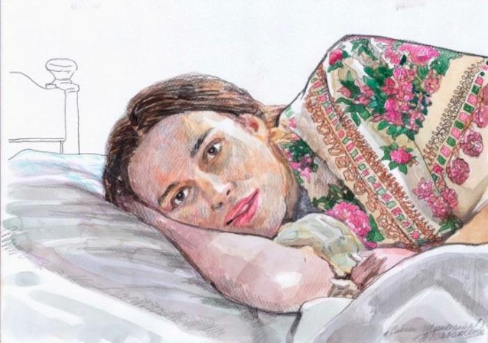 Земляк Сабины Шпильрейн, художник Н. Полюшенко написал ее портрет для музея в Ростове-на-Дону | Фото: rostovnews.net