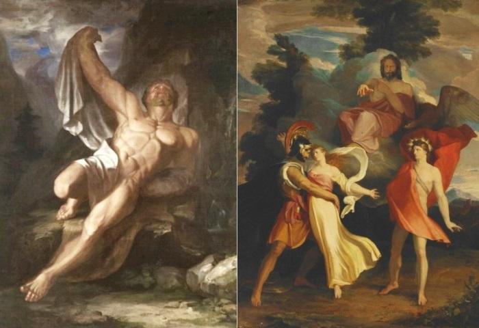 С. Морзе. Слева – *Умирающий Геркулес*. Справа – *Суд Юпитера* | Фото: holst.com.ua