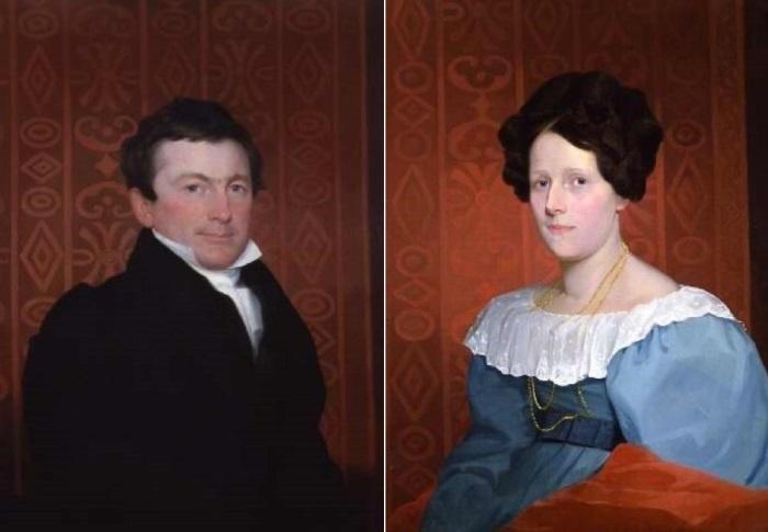 С. Морзе. Портреты Сэмюэла Нельсона и Кетрин Энн Рассел Нельсон, 1822 | Фото: holst.com.ua