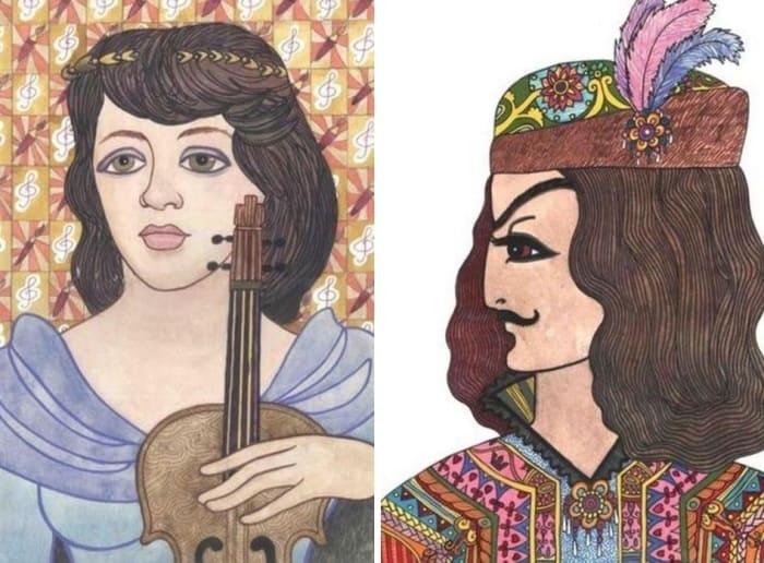 Саша Путря. Слева – *Дорогая Лерусинька*, 1988. Справа –  *Давид Гурамишвили*, 1988 | Фото: mixnews.lv